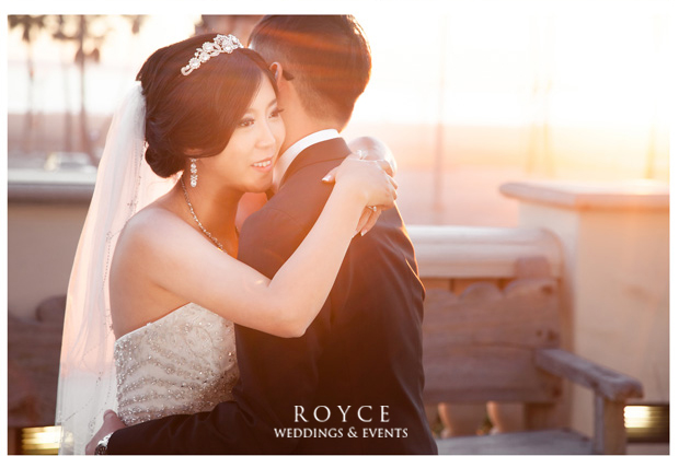 Wedding planner Orange County designed a perfect beach wedding at the Hyatt Huntington Beach http://RoyceWeddings.com Call: 626-560-2537