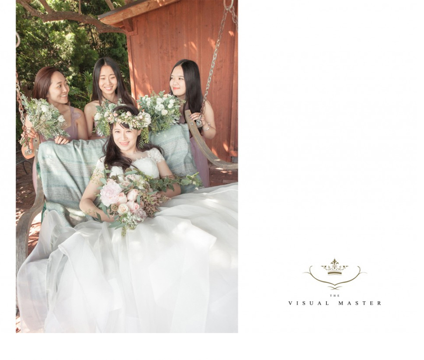 Wedding planner in Los Angeles assisting bride and bridesmaids on wedding day http://RoyceWeddings.com Call: 626-560-2537