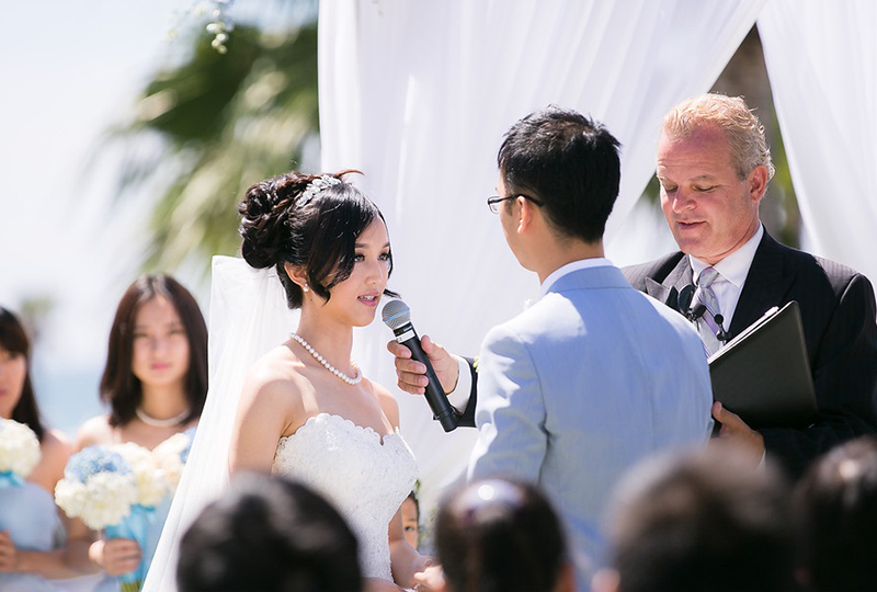 Los Angeles Wedding Planner and Ceremony Pastor rehearsed with the couple for a perfect wedding http://RoyceWeddings.com Call: 626-560-2537