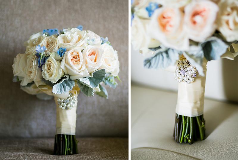 Standing wedding bouquet from wedding florist around Laguna Niguel.