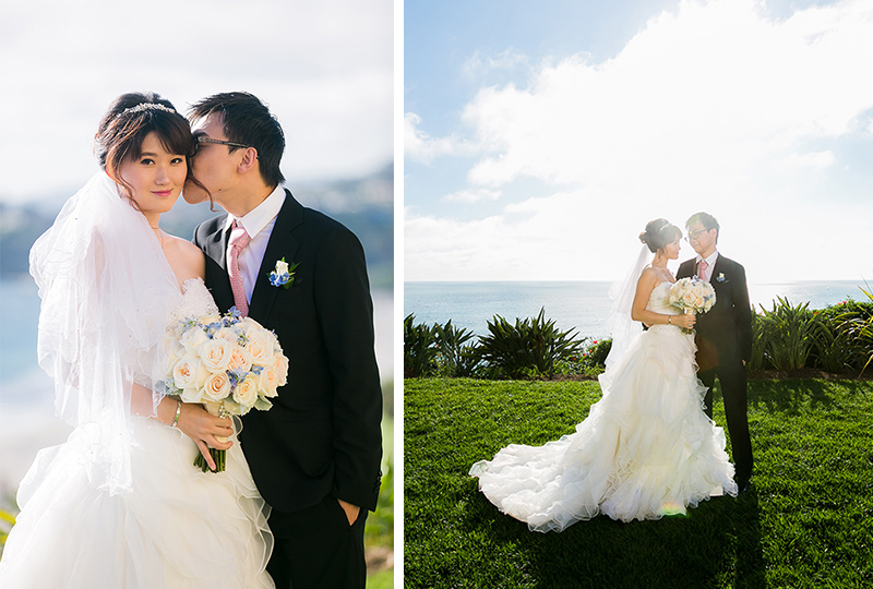 Amazing oceanfront bride and groom pictures, by the best wedding venues in orange county.