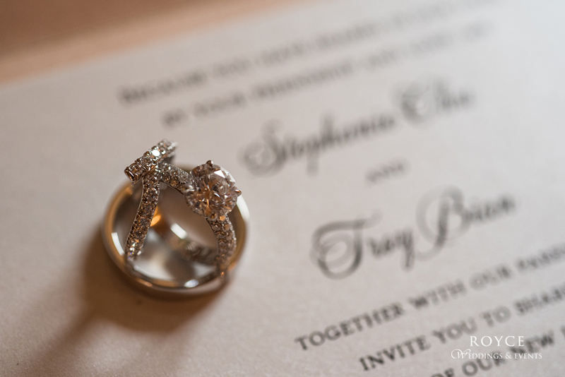 Diamond Rings and wedding reception welcoming page.