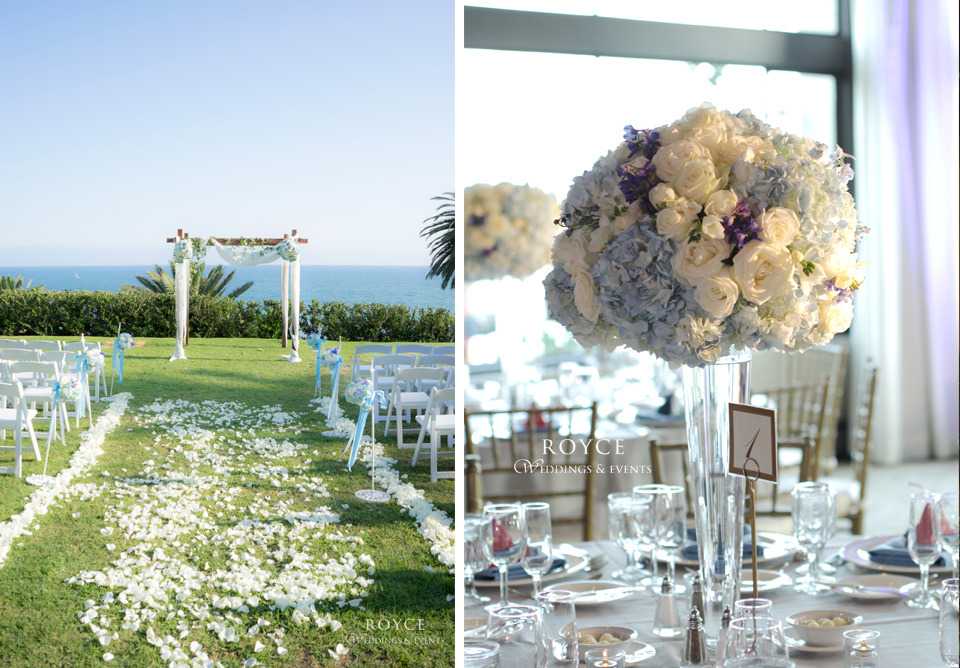 Beautiful Bel Air Bay Club wedding venue, affordable aisle with flowers from the top wedding florists. http://RoyceWeddings.com Call: 626-560-2537