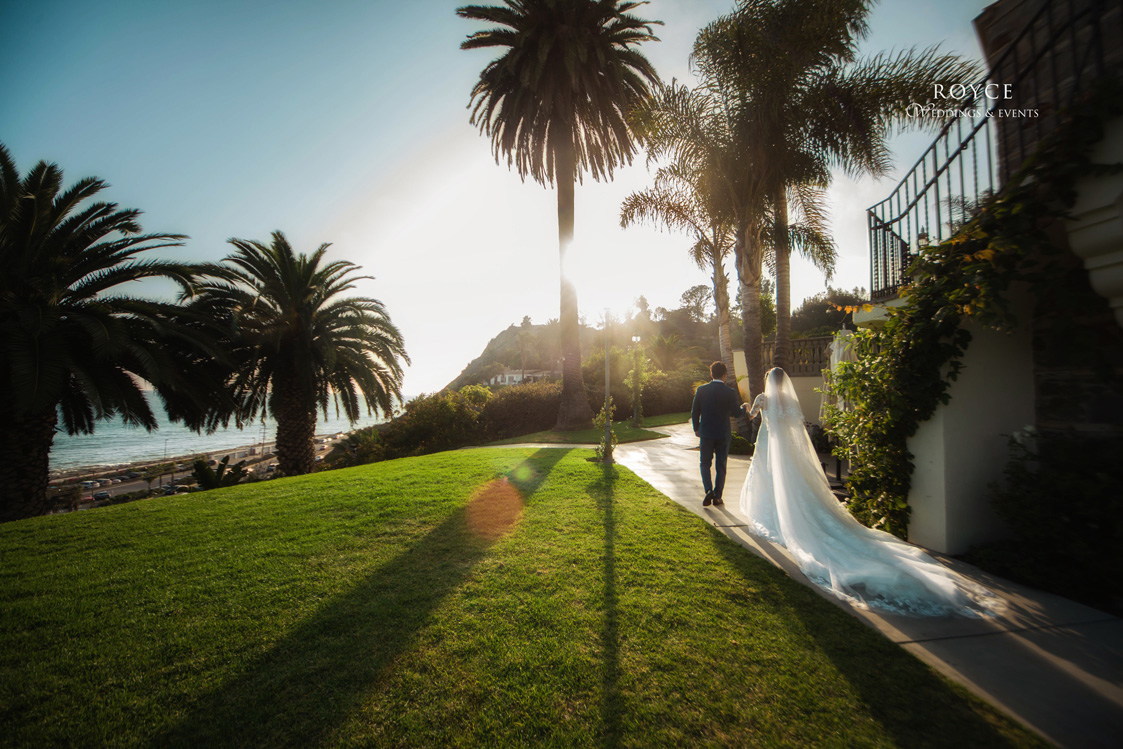 Sunsetting view at a beautiful oceanfront Bel Air Bay Club wedding. http://RoyceWeddings.com Call: 626-560-2537