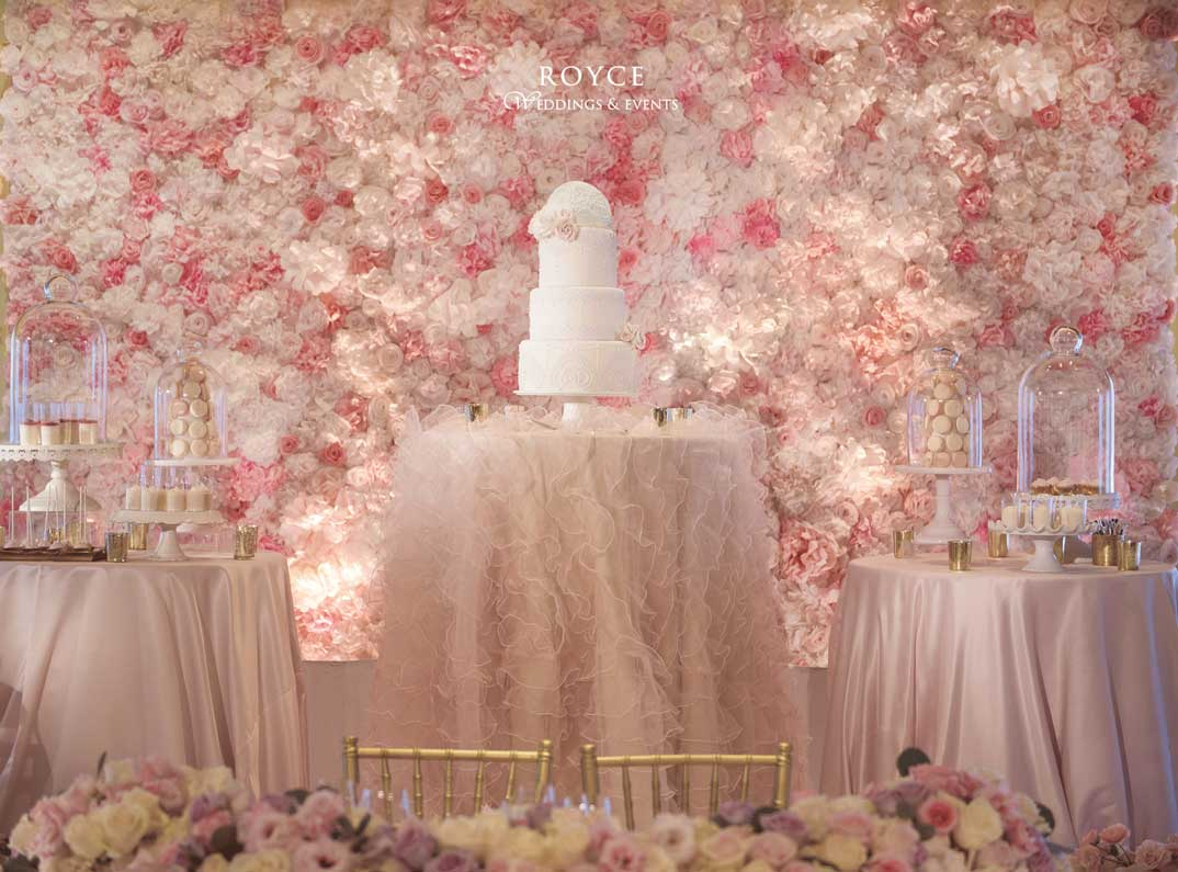 Pastel wedding theme tables and cake, this unique wedding productions was from Royce Weddings - Call: 626-560-2537