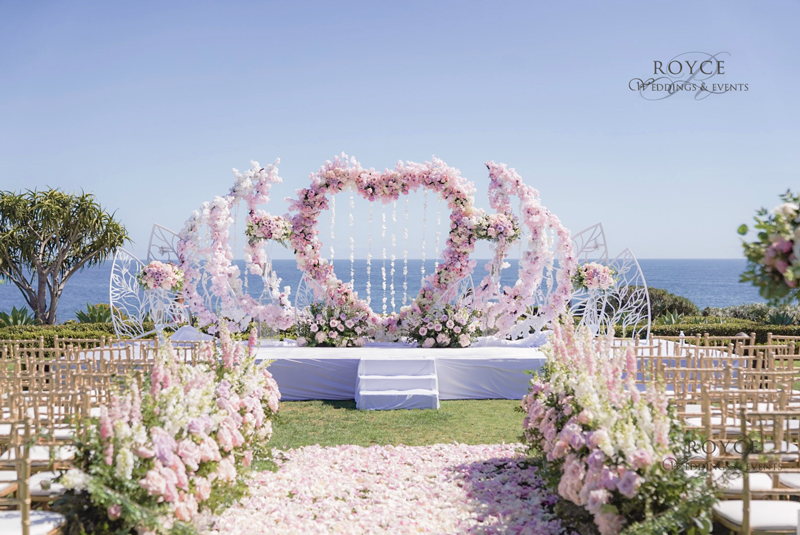 Luxury wedding ceremony at Montage Laguna Beach. http://RoyceWeddings.com Call: 626-560-2537